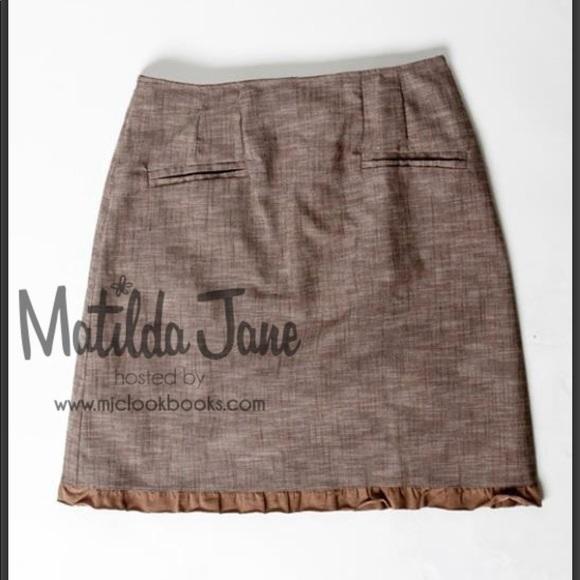 Matilda Jane Dresses & Skirts - Matilda Jane Hammond Bay Beth  Linen Skirt NWOT